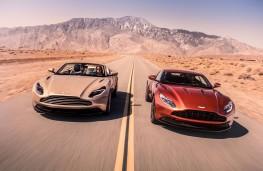Aston Martin DB11 Volante, left and DB11 Coupe