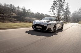 Aston Martin DBS Superleggera Volante, 2019, front, action