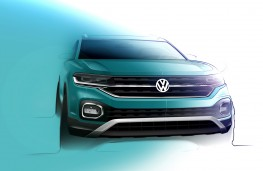 Volkswagen T-Cross front design sketch
