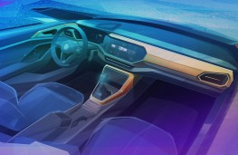 Volkswagen T-Cross interior design sketch