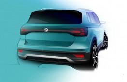 Volkswagen T-Cross rear design sketch
