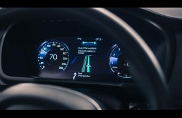 Volvo autonomous car, instrument panel