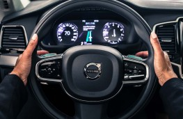 Volvo autonomous car, steering wheel