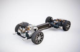 Volvo XC60, 2017, T8 plug in hybrid powertrain, cutaway