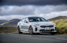 Kia Stinger GT S, 2017, front, action