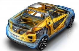 Renault Wind, cutaway showing body reinforcement