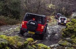 Jeep Wrangler, 2019, rear, convoy