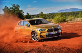 BMW X2, 2017, front, off road