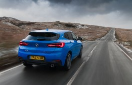 BMW X2, 2018, rear, action