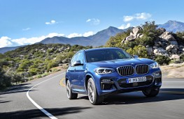 BMW X3, 2017, front, action