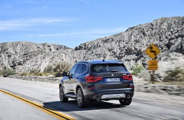 BMW X3, 2017, rear, action