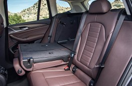 BMW X3, 2017, rear seats