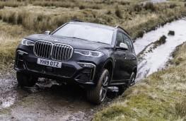 BMW X7 M50d, 2019, front, off road