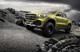 Mercedes-Benz Concept X-Class, powerful adventurer, front