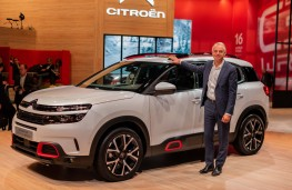 Xavier Peugeot with Citroen C5 Aircross, Paris Motor Show 2018