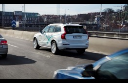 Volvo XC90 Drive Me London, autonomous test, rear