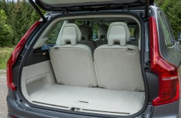 Volvo XC90, grey, boot, seats upright