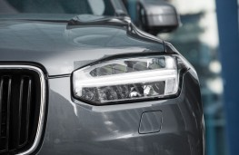 Volvo XC90, grey, headlamps