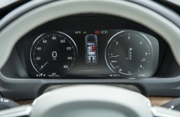 Volvo XC90, grey, instruments