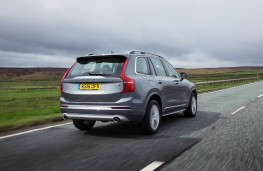 Volvo XC90, grey, rear