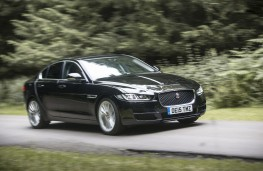 Jaguar XE, front, action