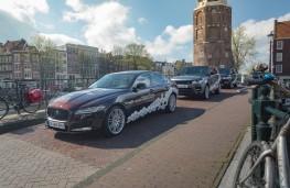 Jaguar XF and Range Rover Sport, autonomous vehicle, Amsterdam Declaration