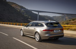 Jaguar XF Sportbrake, 2017, rear, action