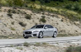 Jaguar XF, side, action
