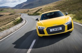 Audi R8, yellow, front, action