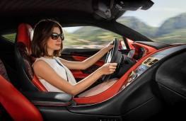 Aston Martin Vanquish Zagato, 2016, interior, woman