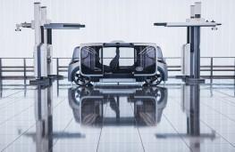 Jaguar Land Rover Project Vector, side, doors open