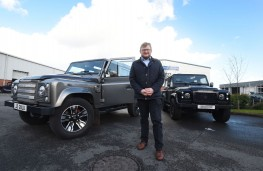 Jonathan Douglas, managing director, JE Motorworks with Zulu Defender