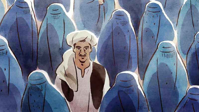 What animation film tells the story of two couples living in Taliban-occupied territory?