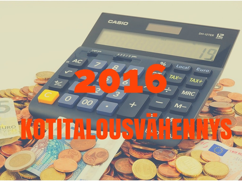 Kotitalousvähennys 2016 tietoa