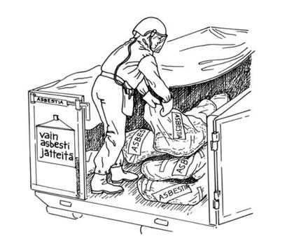Asbestin purku remontti