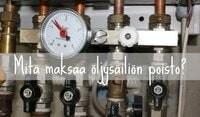 öljysäiliön poisto hinta