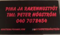 Piha- ja Rakennustyöt Tmi:Peter Högström