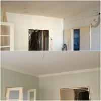 Tammijuuri - Olohuone ennen ja jälkeen.jpg