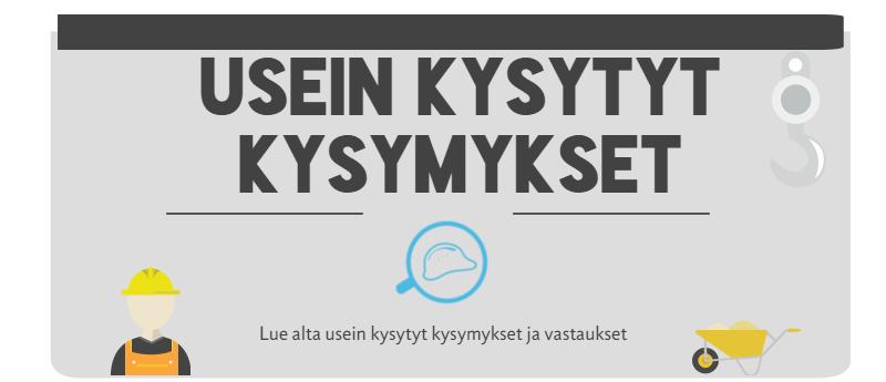Usein kysytyt kysymykset Urakkamaailma.fi