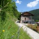 Blick auf unsere Hütte