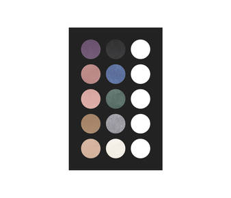 2 eye shadow palette 10 col 25