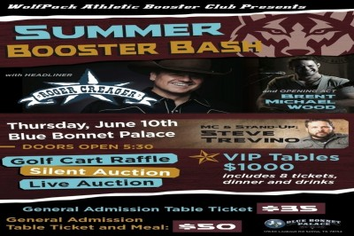 WolfPack Athletic Booster Club Summer Bash  (See below for VIP table information)
