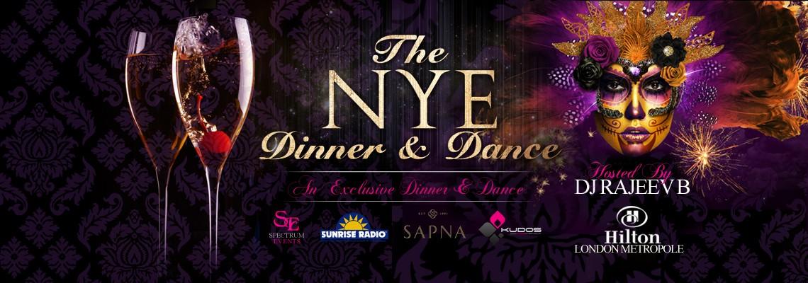 New Years Eve Dinner & Dance - Hilton London