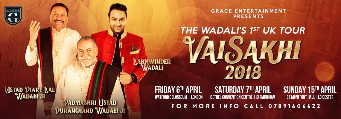 Grace Entertainment Presents The Wadali's 1st UK Tour - Vaisakhi 2018