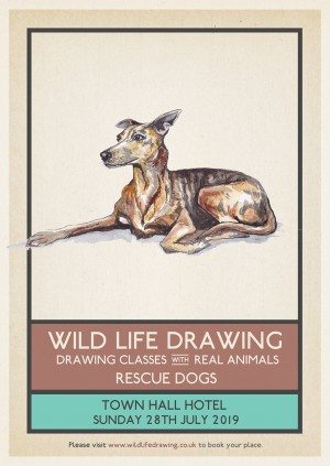 Wild Life Drawing: Rescue Dogs
