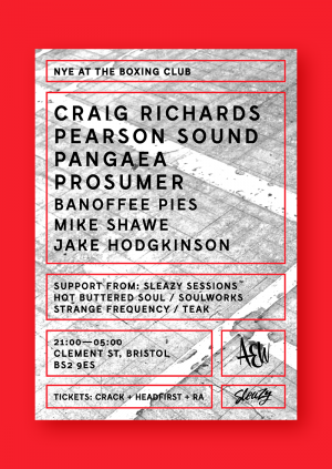 NYE at The Boxing Club - Craig Richards, Pearson Sound, Pangaea, Prosumer & more