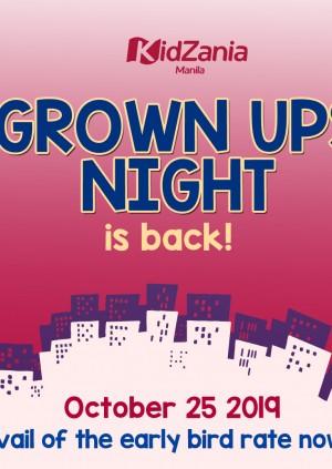 Grown Ups Night Tickets