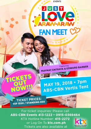 Just Love Araw-Araw Fan Meet with Maymay and Edward