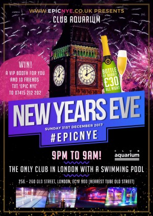 New years eve club events london