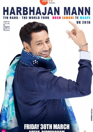 Harbhajan Mann's Tin Rang-The World Tour, UK 2018